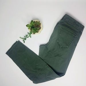 Kut from the Kloth olive green skinny jeans
